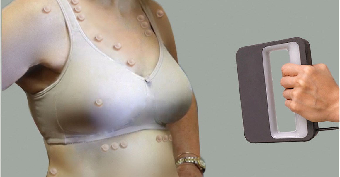3-d Scanning of breast for custom fitting